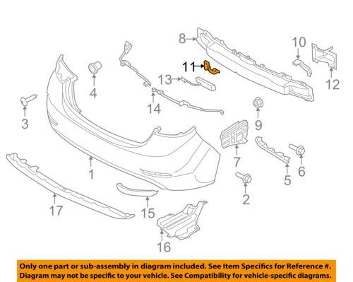 HYUNDAI OEM Rear Bumper-Impact Bar Reinforcement Rebar Lower Bracket 866853X800