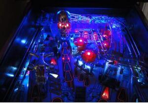 JUDGE DREDD, TWILIGHT ZONE, TERMINATOR 2 T2 Pinball Playfield Light mod BLUE