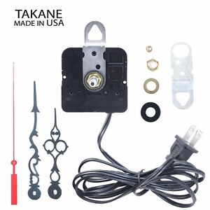 Made-in-USA-Takane-Electric-110V-Clock-Movement-Kit-with-Hands-Multiple-Sizes