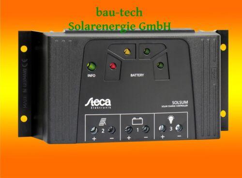 Steca Solsum 2525 12//24V mit LED Anzeige und USB Buchse Solarladeregler