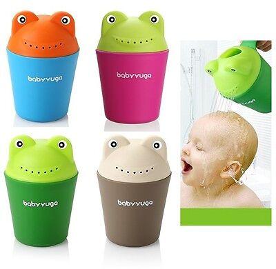 Baby Kids Cartoon Frog Style Bath Shower Water Rinse Cup Bathroom Hair Eye Shampoo Rinse Sprinkler Cup Green