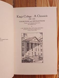 Details about King's College: A Chronicle, Halifax, Nova Scotia, Canada  Dalhousie University