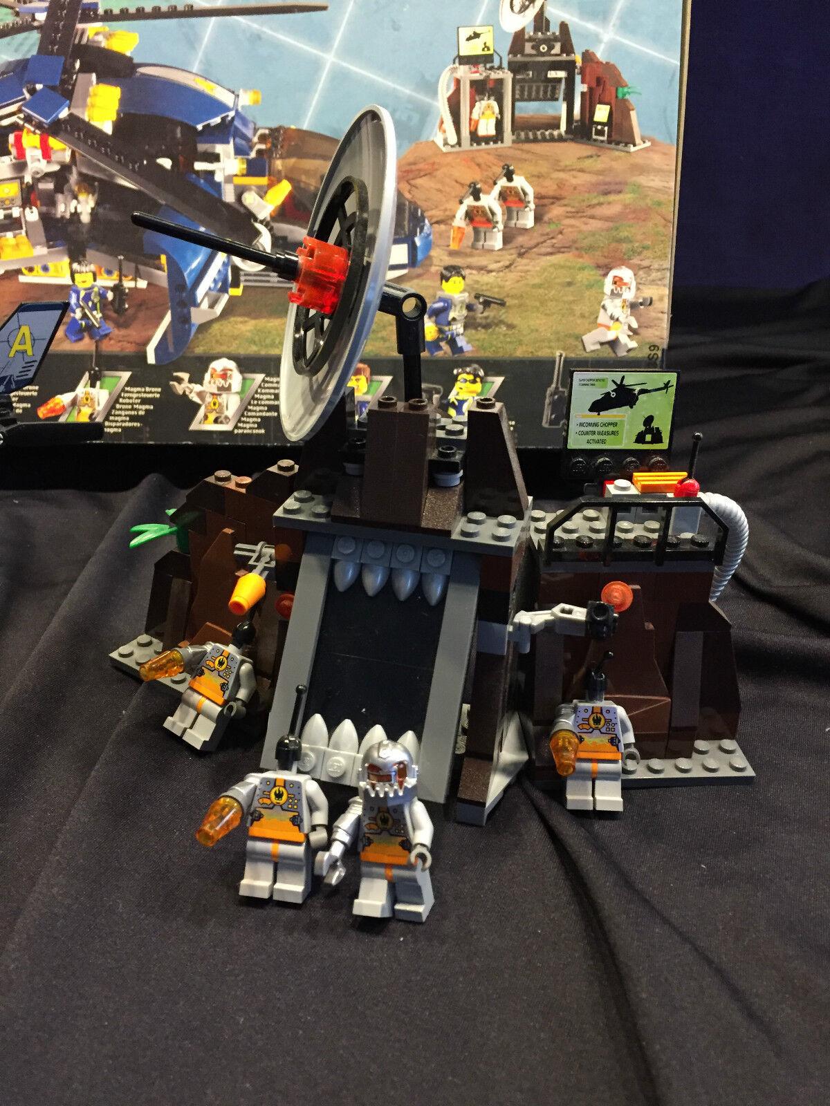 Lego Agents 8971-Bedrohung durch Komm. Magma-wie neu;mitOVP schneller Versand Versand Versand 8b9c41