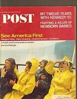 AUGUST 28 1965 SATURDAY EVENING POST vintage magazine == NIAGARA FALLS