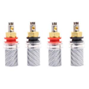 Carbon-Fiber-Rhodium-Plated-Binding-Post-for-Speaker-Amplifier-Terminal