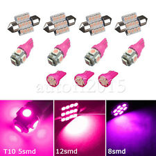11PCS LED Xenon Lights Interior For T10 & 31mm Map Dome + License Plate Pink