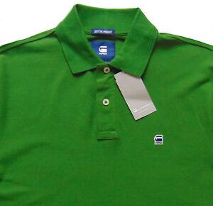 21465b2118c Men s G-STAR   G RAW Green Logo Cotton + Pique Polo Shirt Large L ...