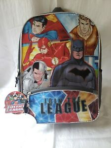 Justice League Backpack Large Holographic Batman Superman Flash Aquaman NWT FAST