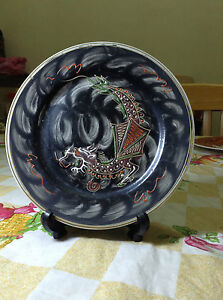 Hand-Painted-Dragon-Plate