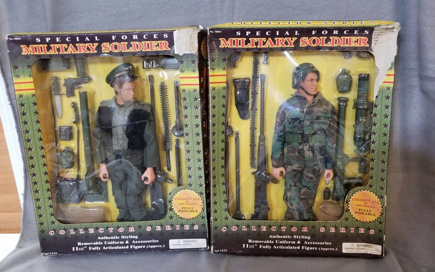 Special Forces Military Soldier Collector Series Toy Figures Pkg Set of 2 New