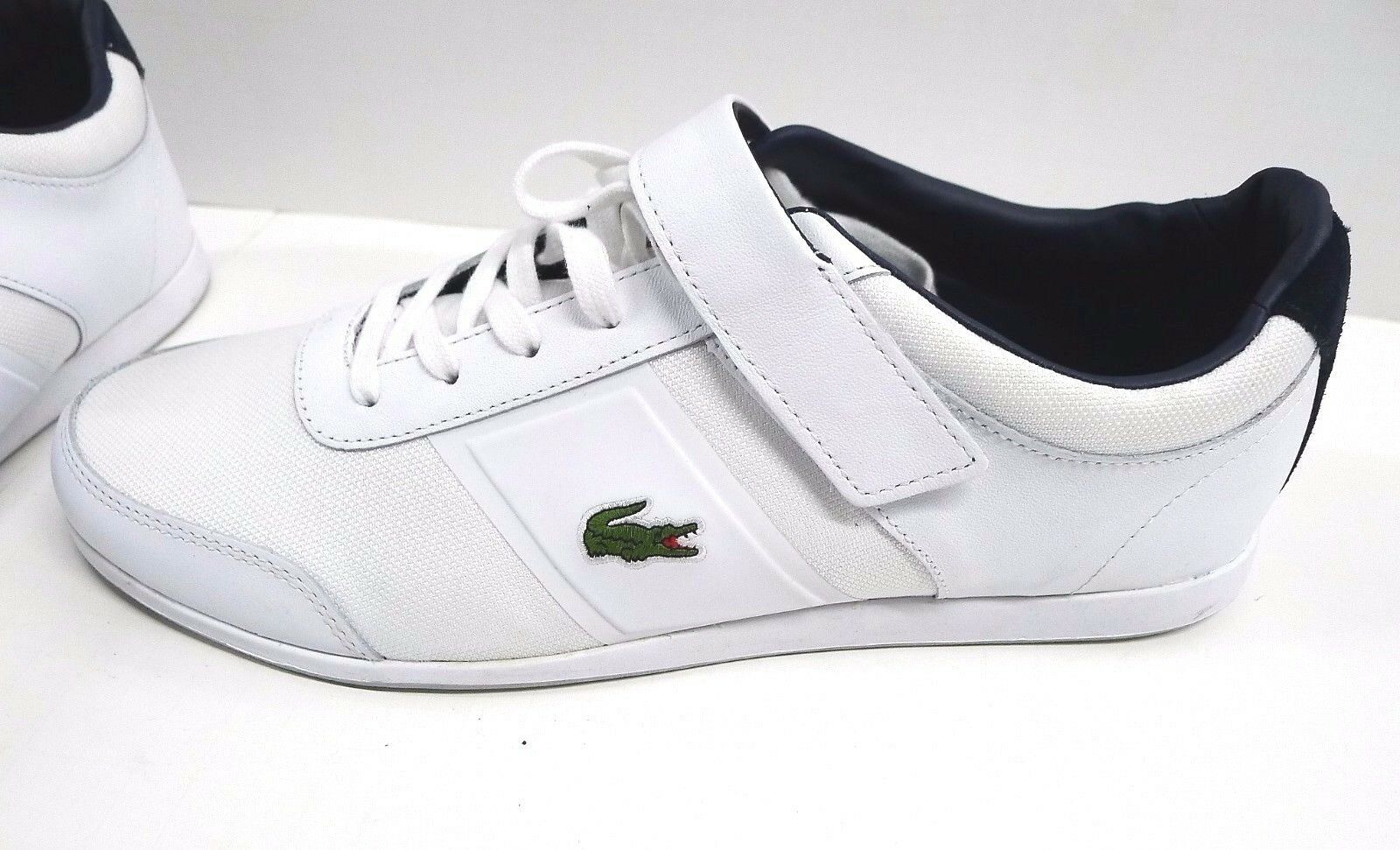 NWOB Lacoste Ortholite White Leather Sneakers