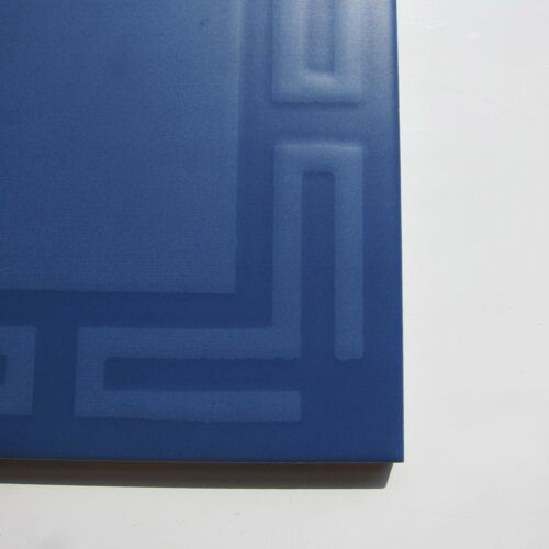 """33 sq ft available ITALY Vintage 1960s 6/"""" x 6/"""" Blue Greek Key Floor Tile"""