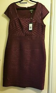 20 Adrianna Papell Bnwt Taille Robe 6xqOf