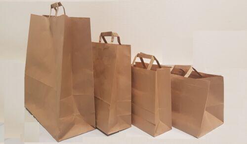 sac papier avec poignées solide et résistant blanc ou marron lot de 1 à 5000 ex