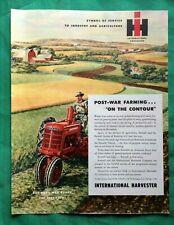 FARMALL INTERNATIONAL HARVESTER TRACTOR NEON STYLE BANNER SIGN ART 4/' X 3/'