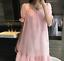 Retro-Womens-Pajama-Square-Neck-Short-Dress-Cotton-Lolita-Sleepwear-Nightgown thumbnail 8