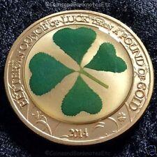 Lucky Irish Gold Coin Four Leaf Clover Luck Neptune under sea Mermaid (5)