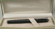 Levenger True Writer Marble Black & Chrome Fountain Pen - Medium Nib - New