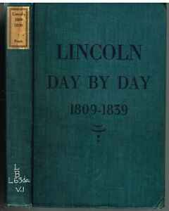 Lincoln-1809-1839-by-Harry-Pratt-1941-1st-Ed-Vintage-Book