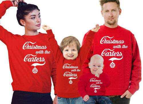 4 or 5. 3 Customized Family Christmas red jumpers set Set of 2