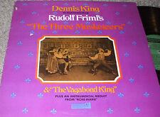 THE THREE MUSKETEERS & THE VAGABOND KING Dennis King LP NEAR MINT VINYL
