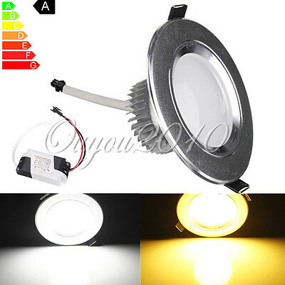 5/7/12/15/18W LED Ceiling Spot Recessed Panel Down Light Bulb Dimmable + Driver
