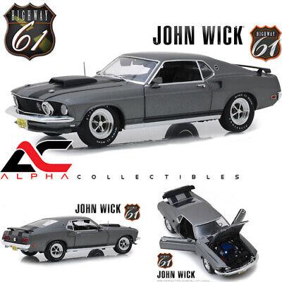 Ford Mustang Boss 429 1969 John Wick graumetallic Modellauto 1:18 Highway 61