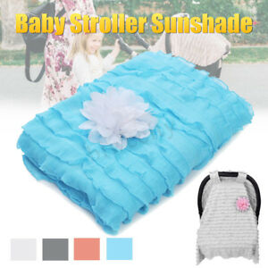 Universal-Baby-Stroller-Pram-Car-Seat-Cover-Breathable-Cotton-Sun-Shade-Canopy