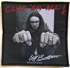 METALLICA - Cliff Em All / Cliff Burton - 10,4 cm x 10 cm - Patch - 165209