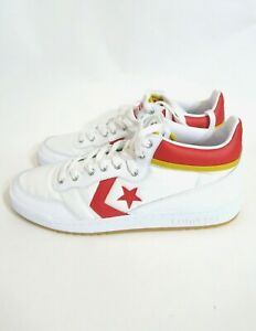 3de02b161036 Converse Fastbreak Pro Mid Red Yellow White Casual Skating Shoes ...