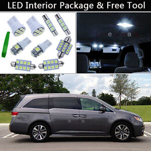 Image Is Loading 17pcs Bulbs White Led Interior Lights Package Kit