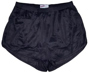 Black-Nylon-Ranger-Panties-Silkies-Running-Track-Shorts-by-Soffe-Men-039-s-Medium