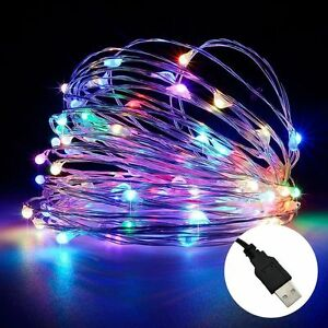 Christmas Led Strip Lights.Details About 10m Usb Led Copper Wire String Fairy Light Strip Lamp Xmas Party Waterproof