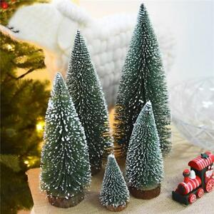 Details About Artificial Tabletop Christmas Tree Decorations Festival Miniature Xmas Fs