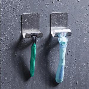 Stainless-Steel-Wall-Mounted-Shaver-Razor-Stand-Shelf-Racks-Storage-Bathroom