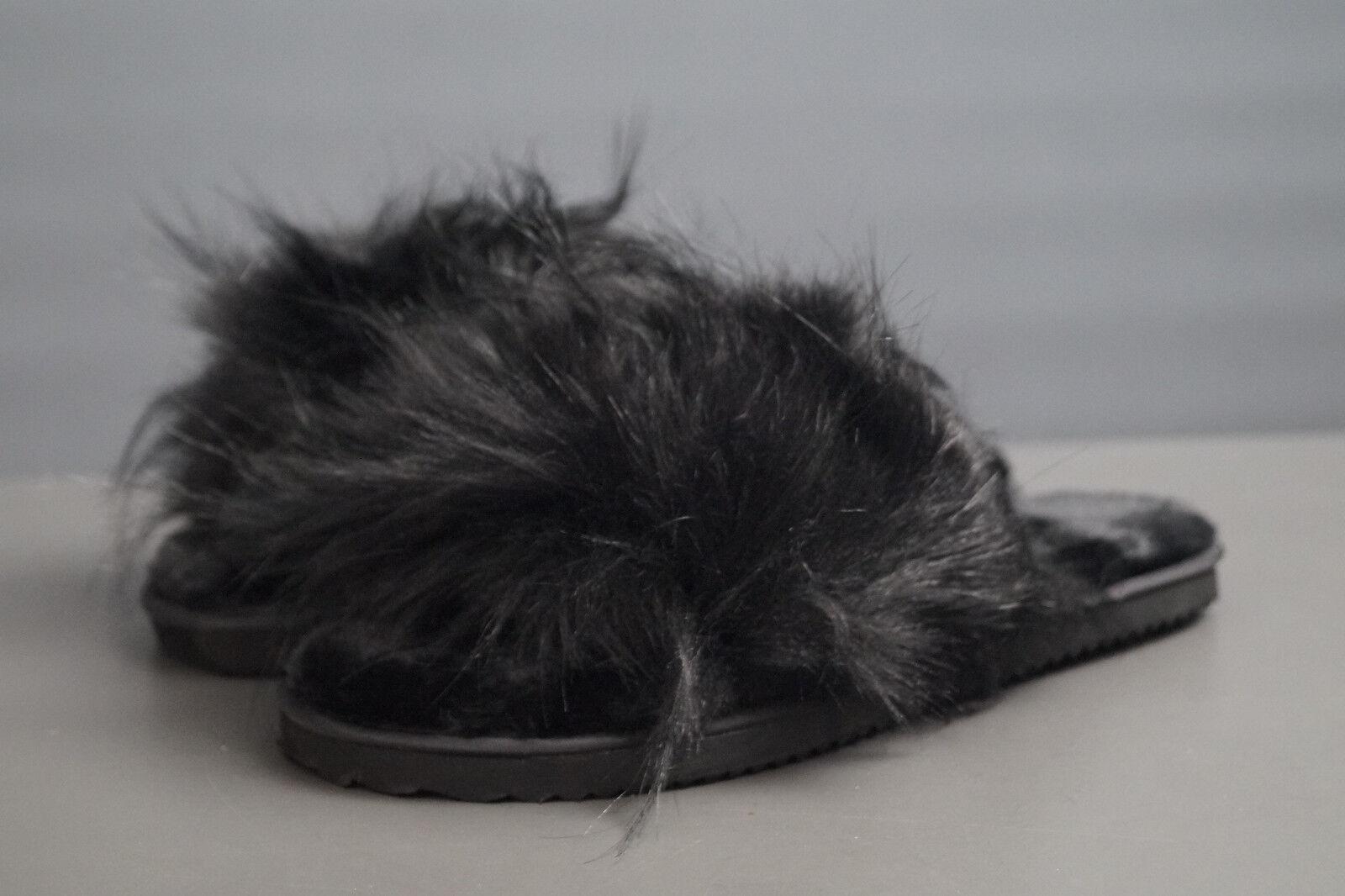 FlipFlop Fellimitat black EU 38 UK 5.0 Pantolette Hausschuhe
