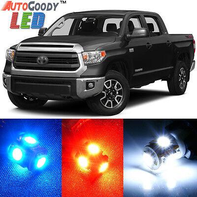 License 14x LED White Light Interior Package Kit For 2007-2018 Toyota Tundra