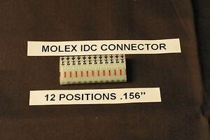 "CONNECTEUR MOLEX 12 BROCHE # IDC 0.156/"""