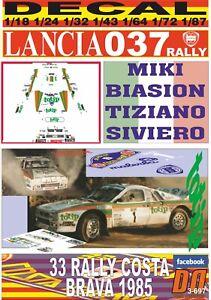DECAL LANCIA DELTA INTEGRALE M.BIASION R MONTECARLO 1989 WINNER 01