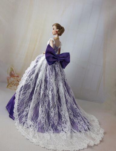 Fashion Royalty Purple Big Bowknot Dress//Ballgown FOR 11.5in.Doll silkstone c037