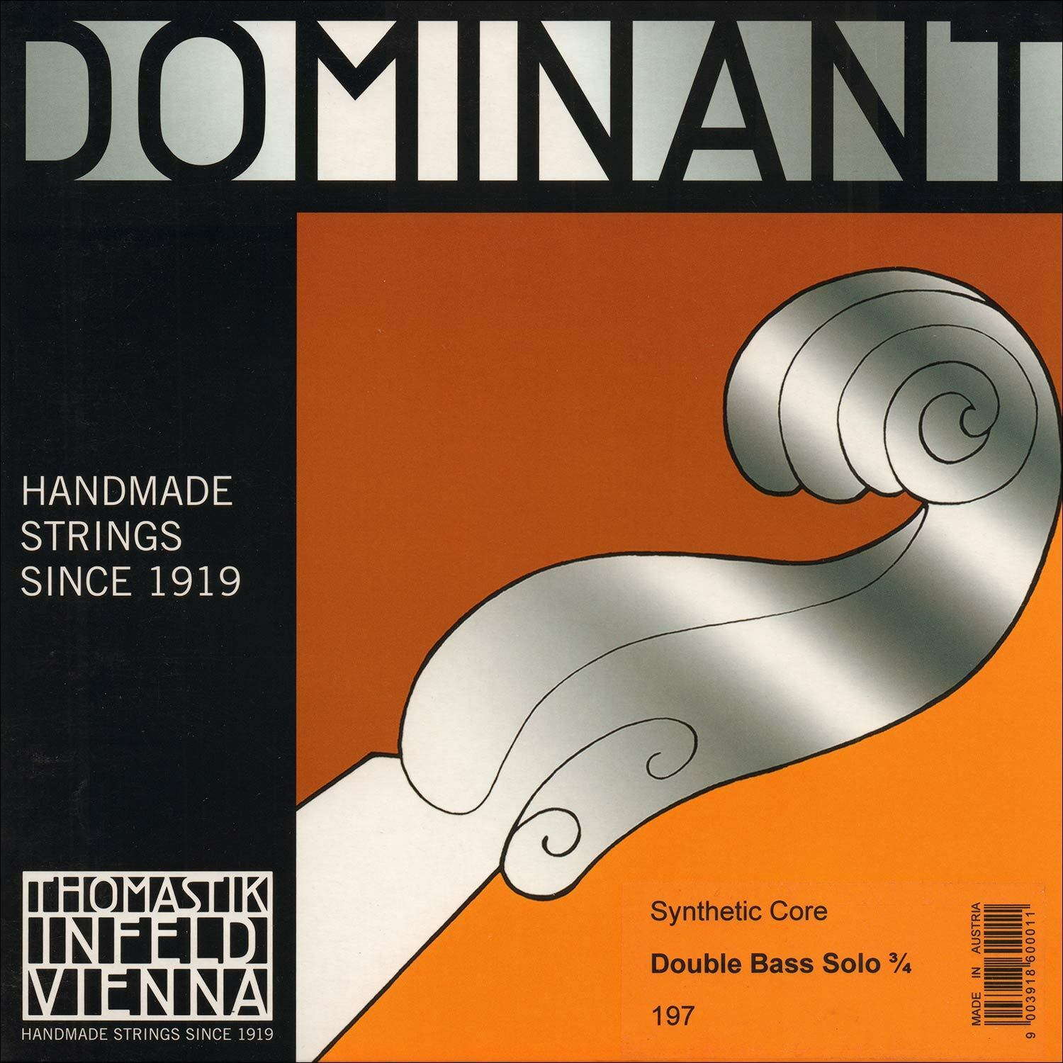 Thomastik-Infeld Dominant Solo 3 4 Bass String Set - Medium - GENEHMIGTER DEALER