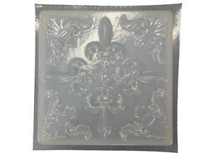 Importé De L'éTranger Fleur De Lis Plaque De Béton De Ciment Stepping Stone Moule 1248 Moldcreations-afficher Le Titre D'origine