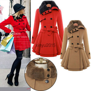 Winter Womens Long Trench Coat Ladies Fashion Parka Jacket Warm Outwear Overcoat