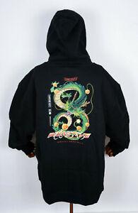 Primitive Skateboards Hooded Hoodie Dragonball Z Shenron Dirty P Black in XXXL