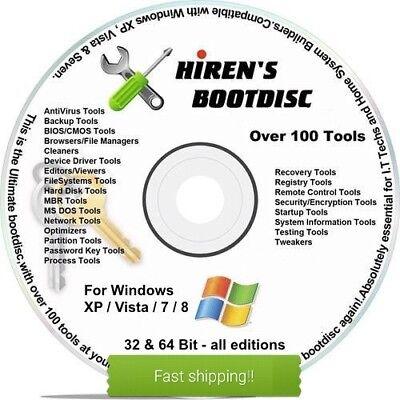 VIRUS BOOT CD Windows PC REPAIR PASSWORD MALWARE REMOVAL RECOVERY CLONE
