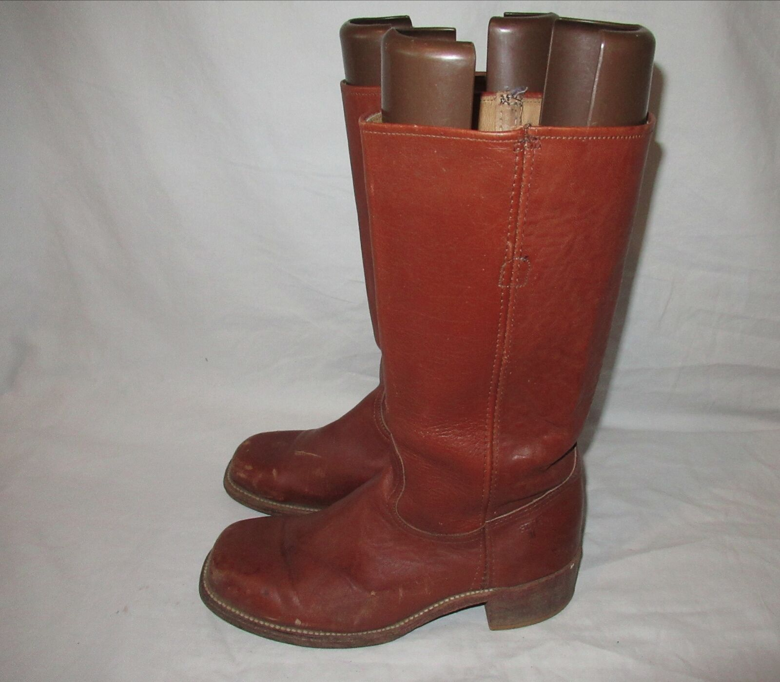FRYE  Campus  2955 Vintage  Brown Leather Women Boot SZ  10.5 D Made in USA