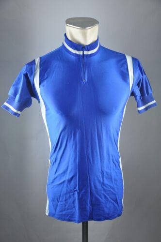Vintage radtrikot Bleu 80er Taille 3 S BW 44 cm Jersey Maillot Vélo a6