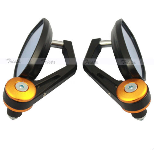 "Motorcycle ATV Bike 7//8/"" Handle-Bar End Side Rear View Mirrors Universal Yamaha"