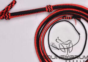 16 Foot 16 Plait Budget Black Nylon bullwhip Equinelibrium/'s 14 Foot
