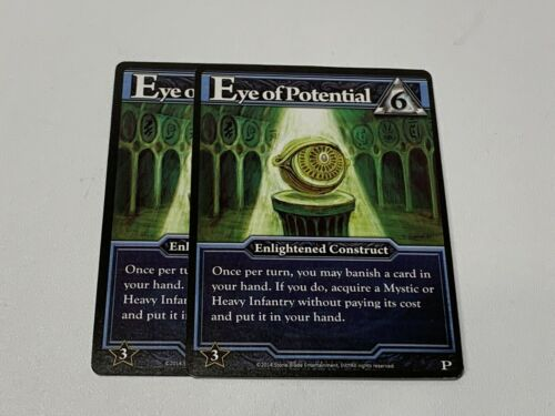 2x Ascension Eye Of Potential Promo Ascension Card Game Enlightened Construct